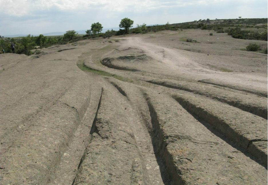 Mysterious ancient tracks dissect the landscape in the Phrygian Valley of Turkey.