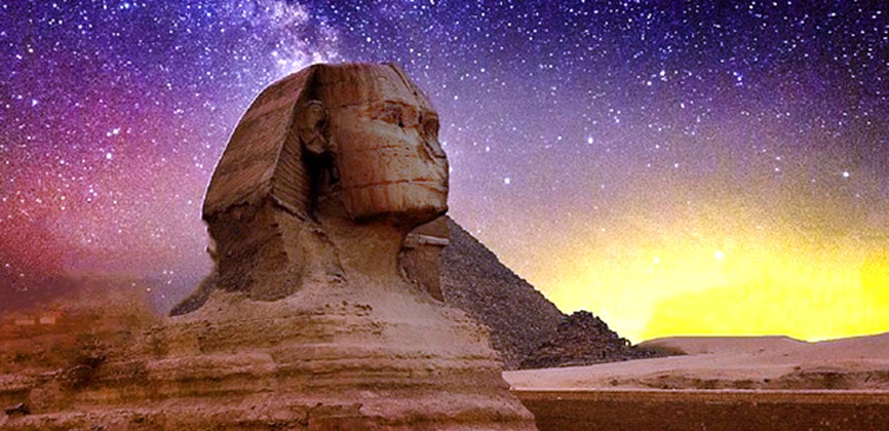 The ancient and mysterious Sphinx, Giza, Egypt.