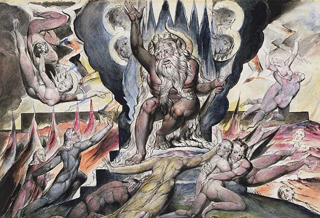 "Illustrations to Dante's ""Divine Comedy"" - ""Minos"" by William Blake."