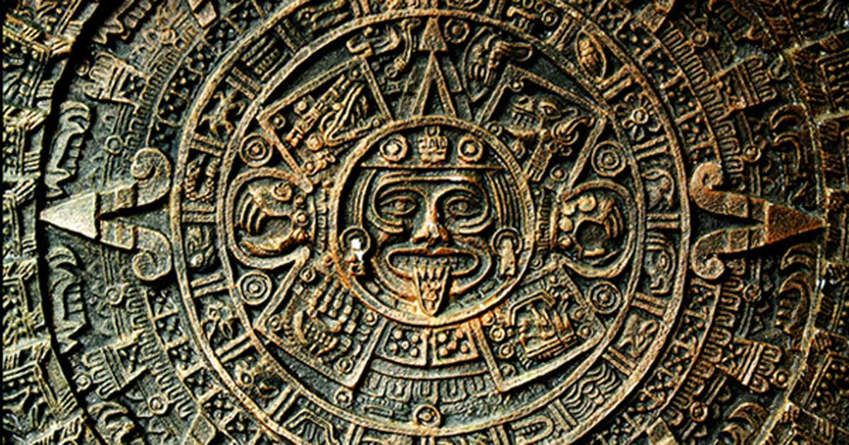 Aztec Calendar Sun Stone, used by the Aztecs as well as other Pre-Columbian peoples of central Mexico and Central America