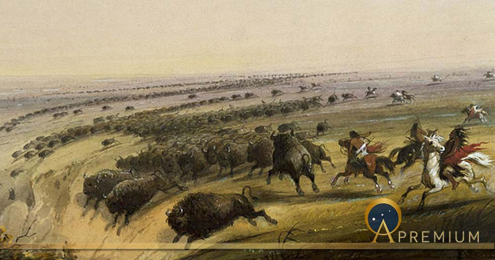 Hunting Buffalo by Alfred Jacob Miller (1858) Walters Art Museum (Public Domain)