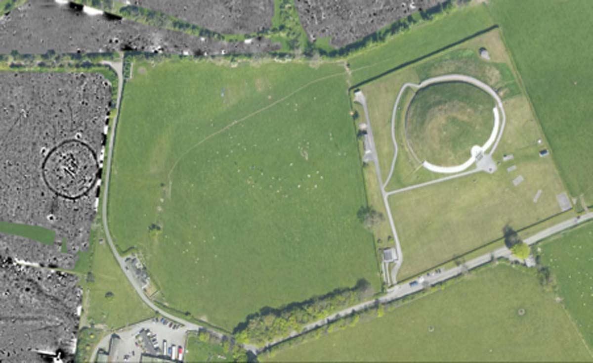 Archeologists have identified about 40 previously unknown monuments near Newgrange. The Boyne to Brodgar Project is examining connections between the Boyne Valley and the Orkney Islands. Source: Dr. Davis / UCD School of Archaeology.