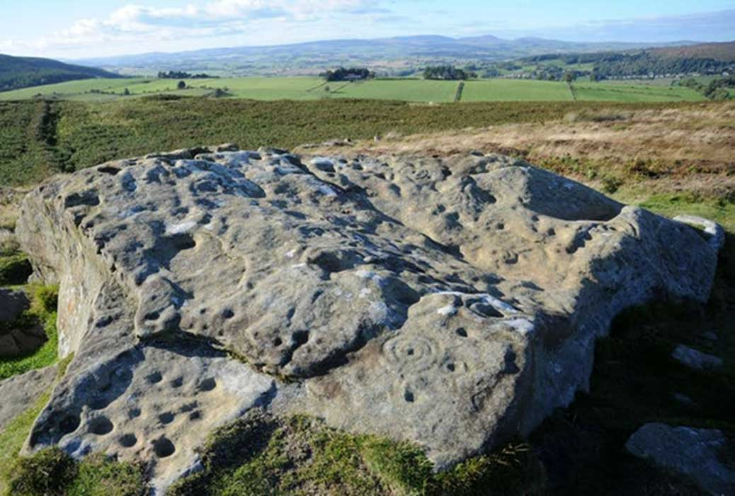 Rock art in central Northumberland, northern England. (Author provided)