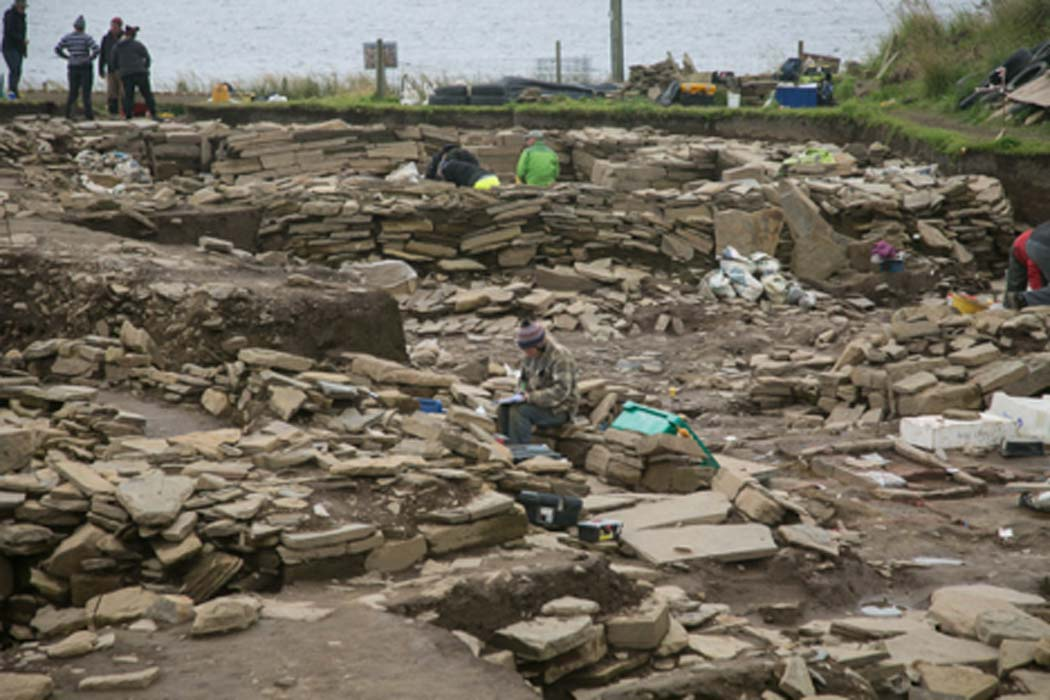 Excavations at the Ness of Brodgar. Source: Ruth_W / CC BY-SA 2.0.