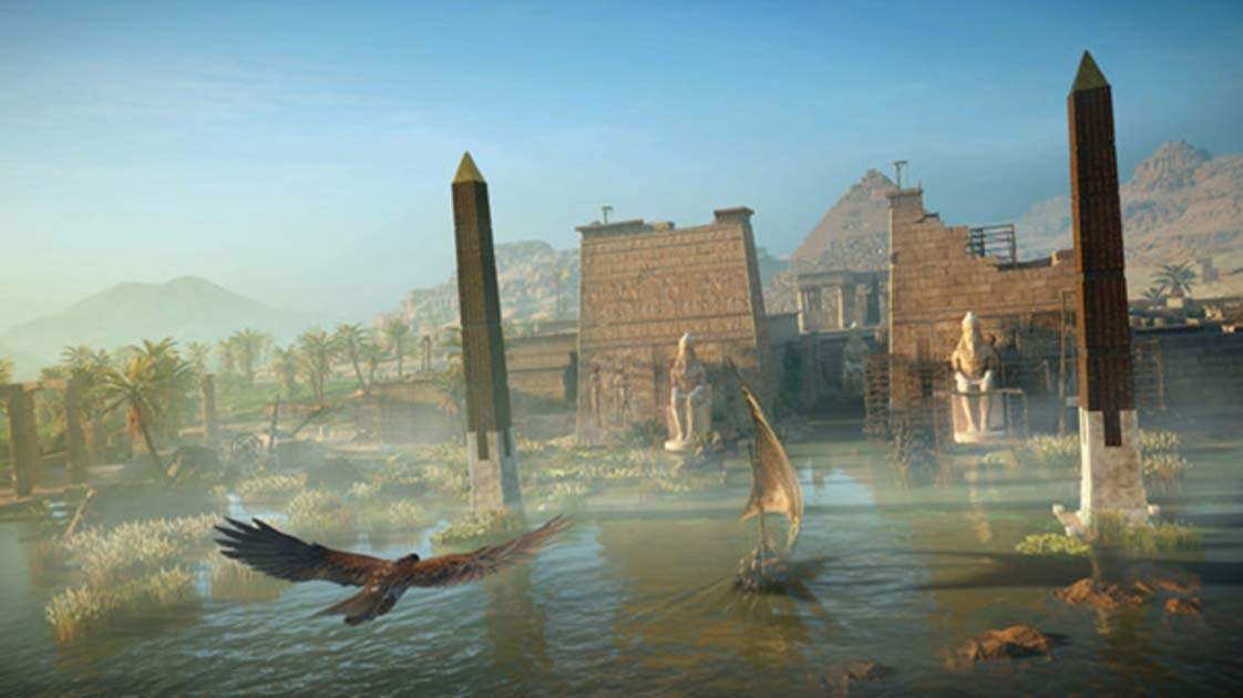 A scene from the new Assassin's Creed, called 'Origins'.