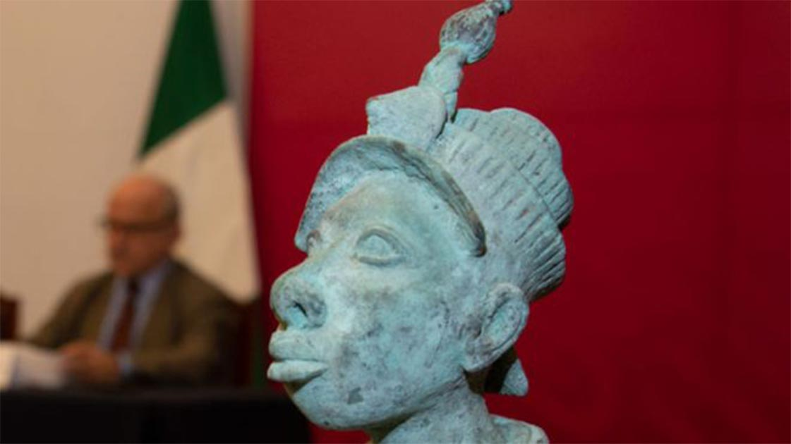 Statue was reportedly illegally smuggled to Mexico.  Source: INAH