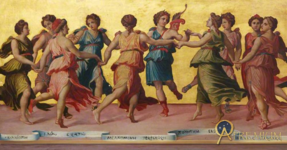 Apollo and the Muses by Robert Sanderson