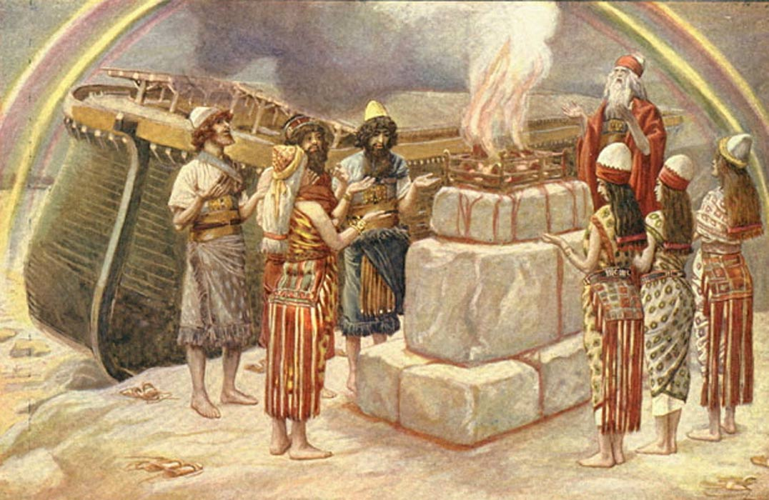 Noah's Sacrifice - watercolor circa 1896–1902 by James Tissot