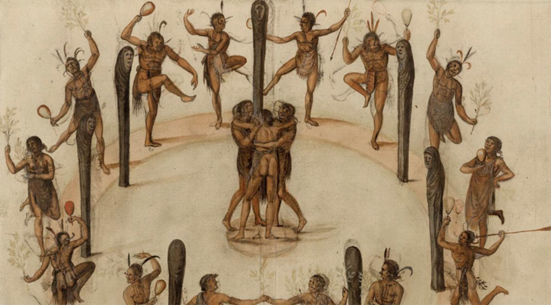 For centuries, indigenous history has been largely told through a European lens.         Source: John White, circa 1585-1593, © The Trustees of the British Museum, CC BY-NC-SA
