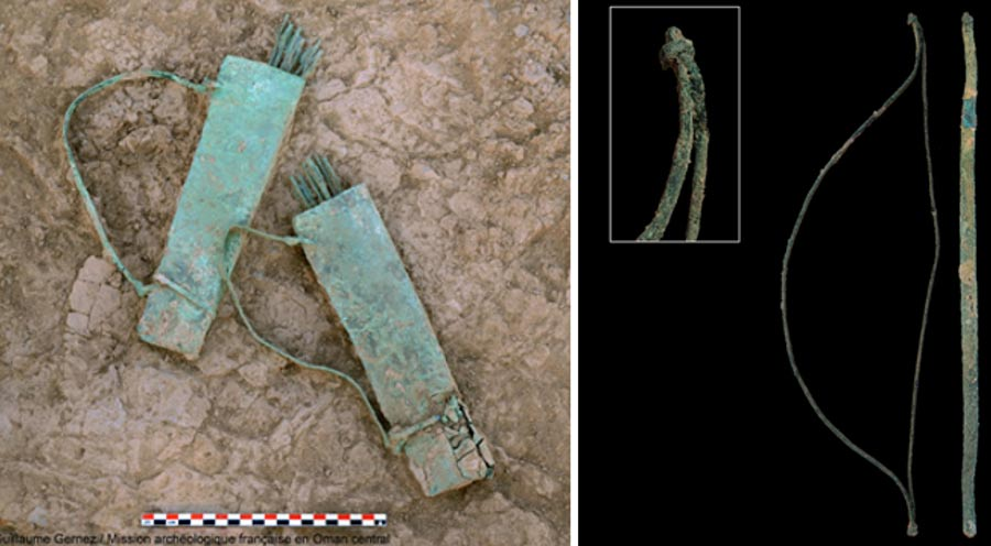 Two quivers made of copper/bronze found at Mudhmar East