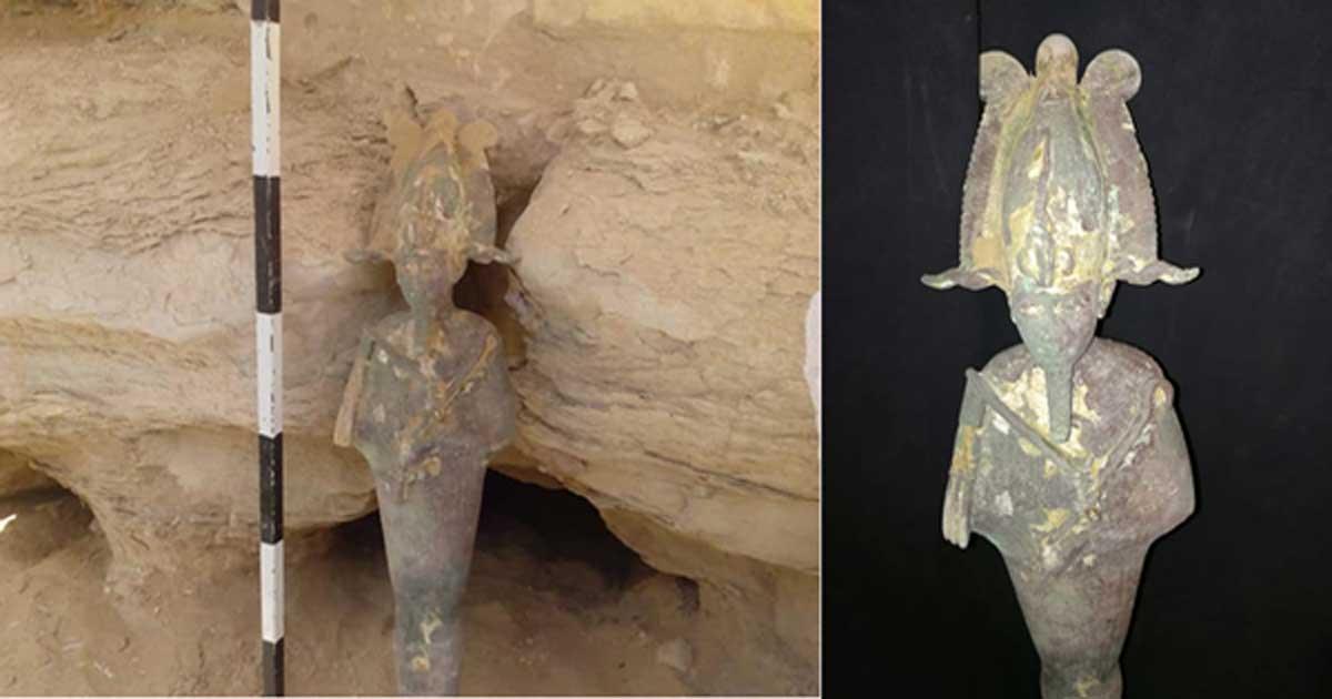 The Osiris statuette from Saqqara, Egypt.