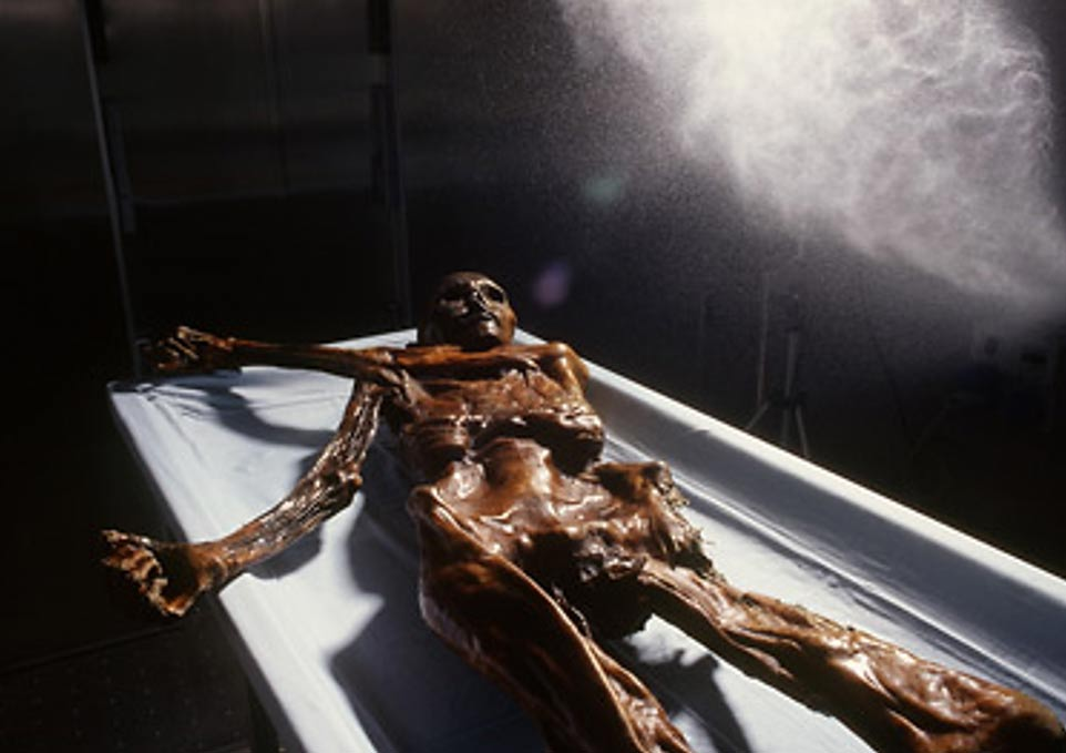 Conservation of Ötzi, the Iceman.