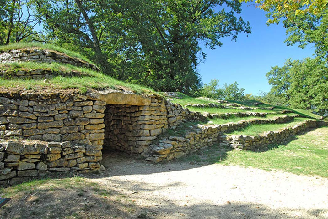 Tumulus F at the Neolithic Tumulus of Bougon necropolis.