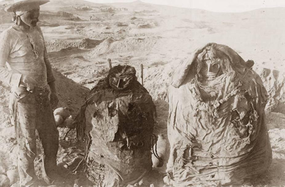 Las momias de Pachacamac de Perú
