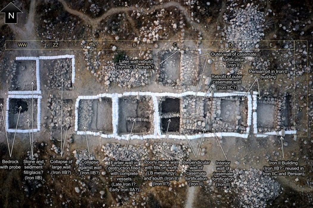 Tel Burna, Structures of Libnah