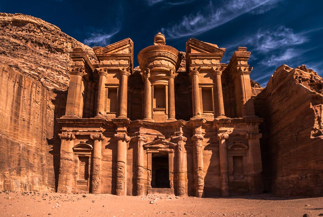 The ancient city of Petra, Jordan