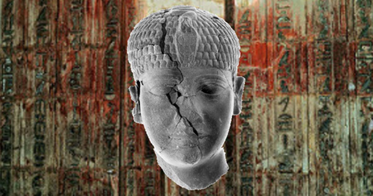 The head of the unknown ancient Egyptian pharaoh found at Hazor in Israel.