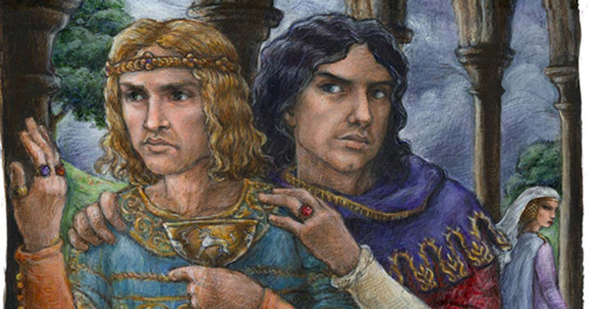 Modern depiction of Edward II and Piers Gaveston.