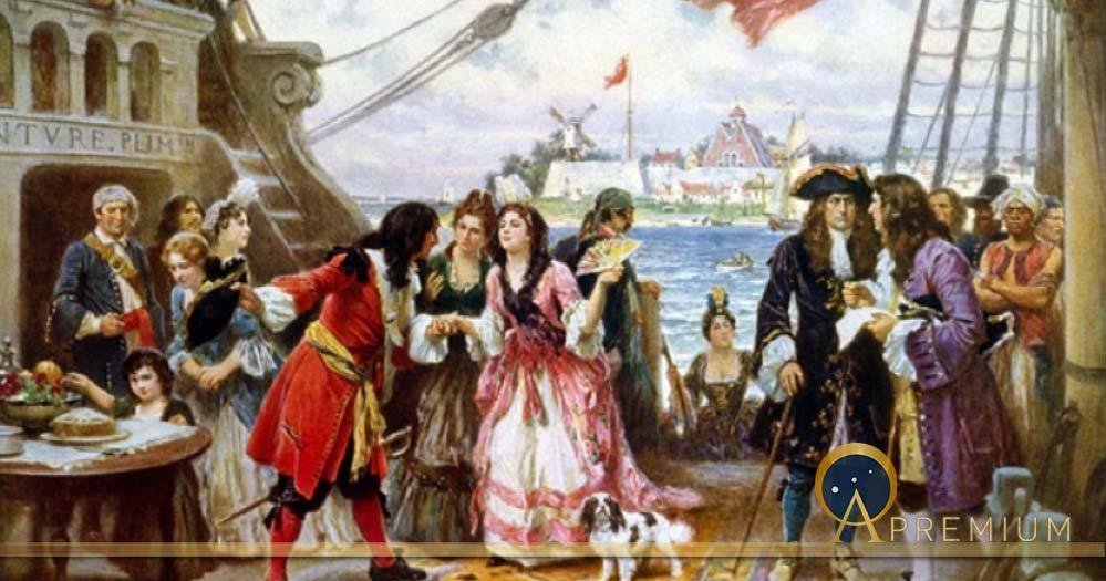 Captain Kidd in New York Harbor by Jean Leon Gerome Ferris (1863 – 1930) (Public Domain)