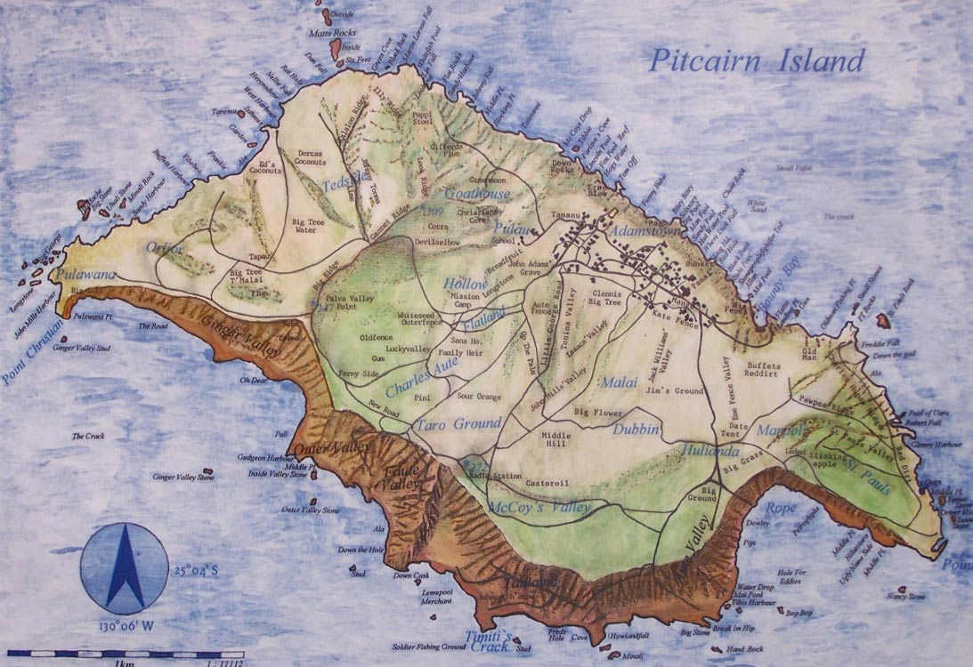 real life lord of the flies the strange and violent history of  pitcairn island map