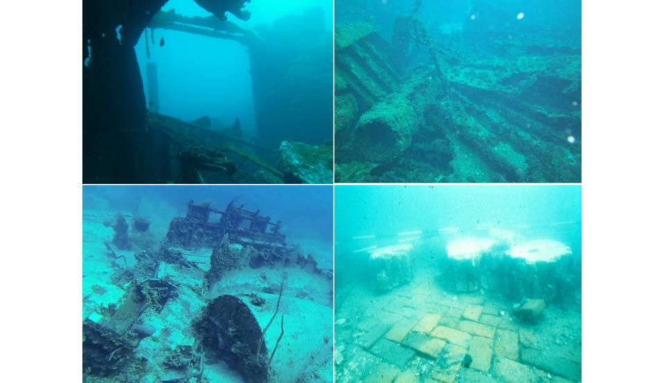 A collection of images of the ruins of Port Royal as it stands today.