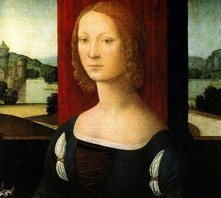 Portrait of Caterina Sforza (1483) by Lorenzo di Credi.