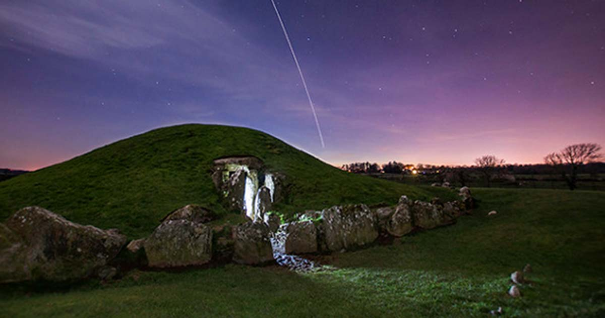 The 5000-year-old burial chamber at Bryn Celli Ddu on Anglesey