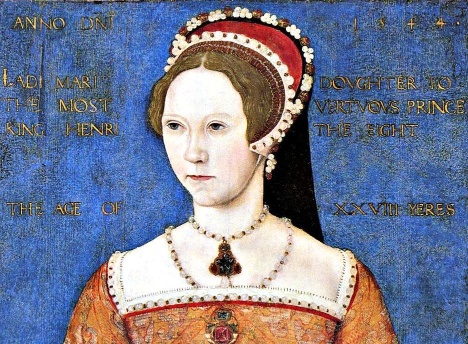 Portrait of Princess Mary Tudor, future Mary I of England. Master John, 1544.