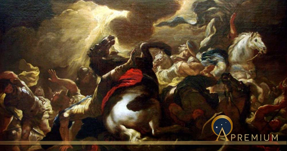 La conversion de Saint Paul by Luca Giordano (1690), Museum of Fine Arts of Nancy. (Public Domain)
