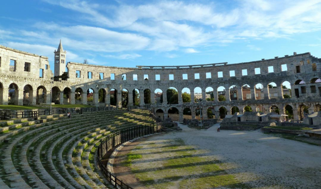 Inside view of the Pula Arena - Croatia