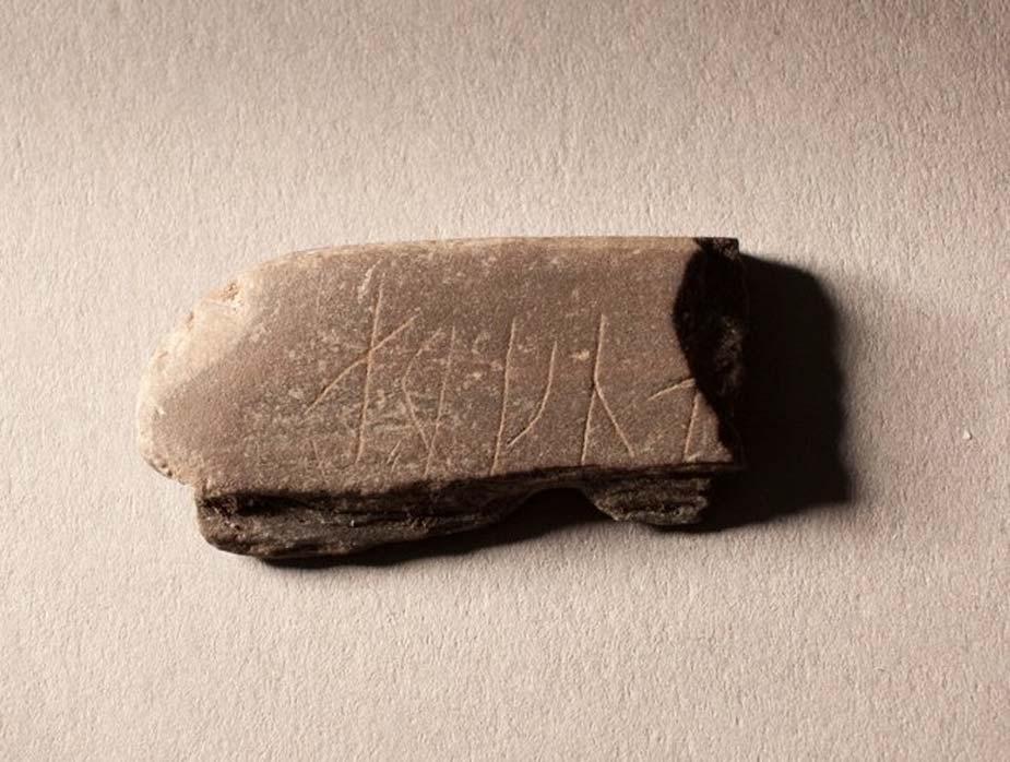 The engraved whetstone found in Oslo, Norway. Credit: Karen Langsholt Holmqvist/NIKU