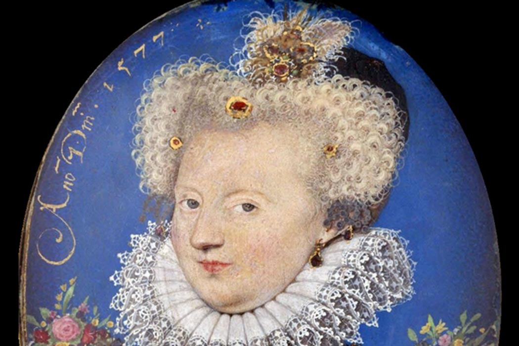 Margaret of Valois, by Nicholas Hilliard, c. 1577.