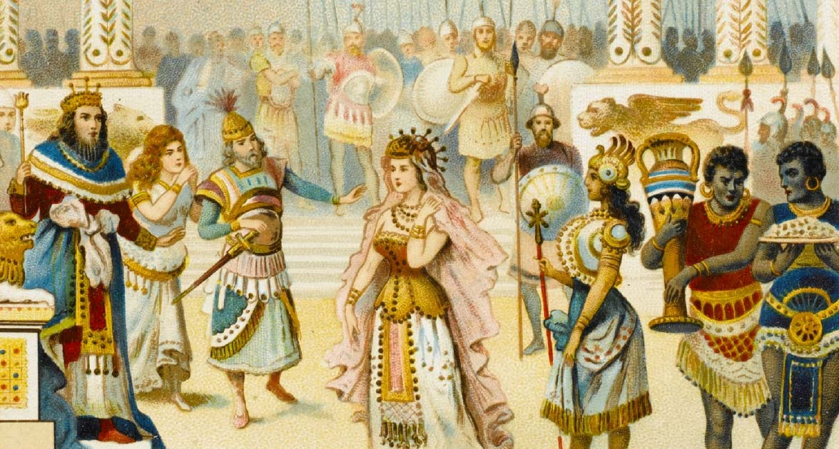 The Queen of Sheba meets with King Solomon. Source: Archivist / Adobe Stock.