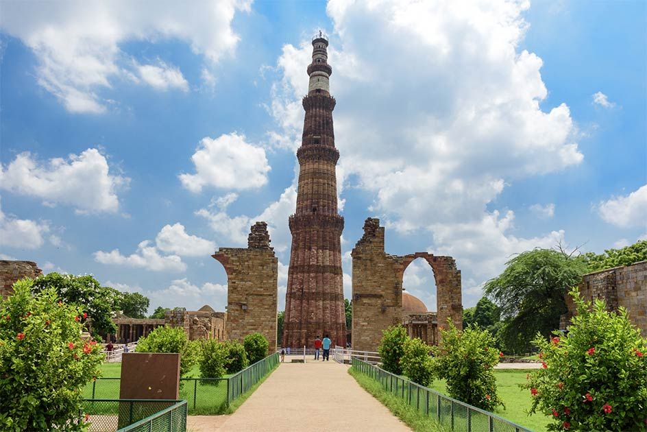 Qutub Minar, the tallest brick minaret in the world, New Delhi, India.             Source: kingslyg / Adobe Stock