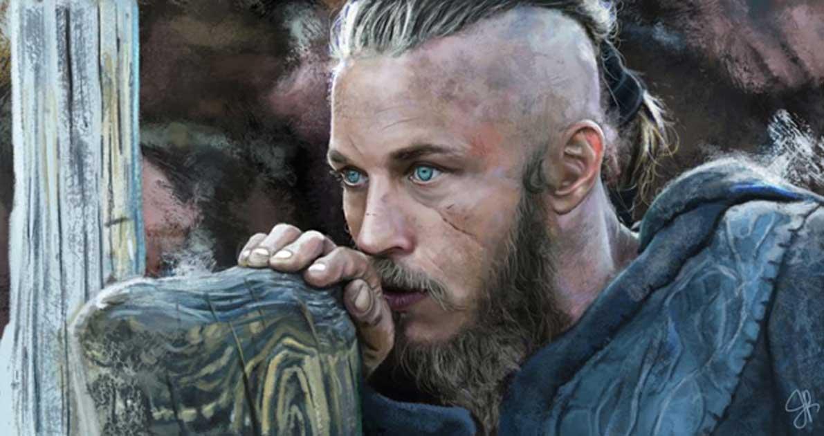Artist's representation of Ragnar Lothbrok.