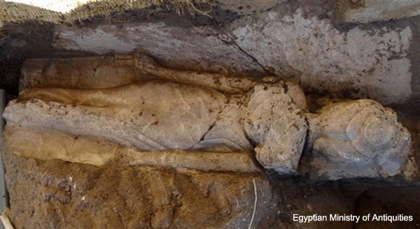 Rare Egyptian princess statue found guarding a Luxor temple