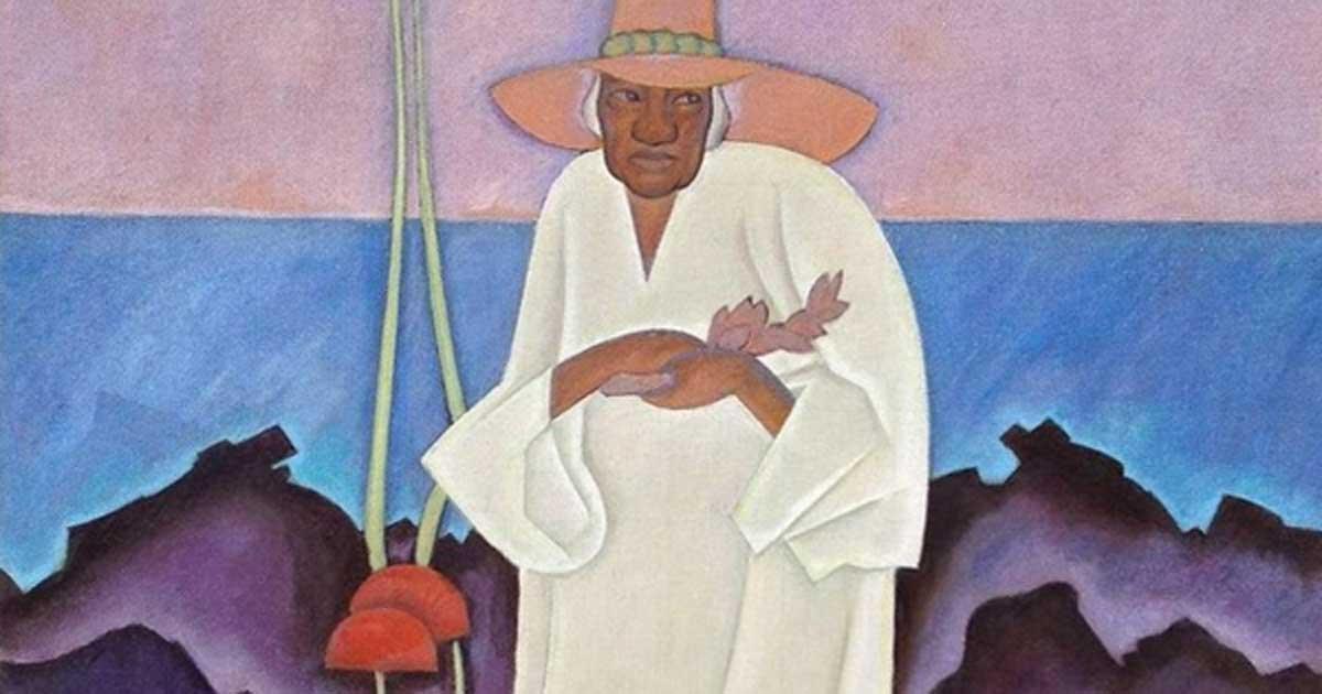 Detail of 'Shaman', (1930) by Arman Manookian.