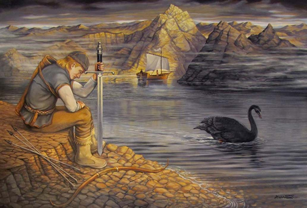 Lemminkäinen and the black swan.