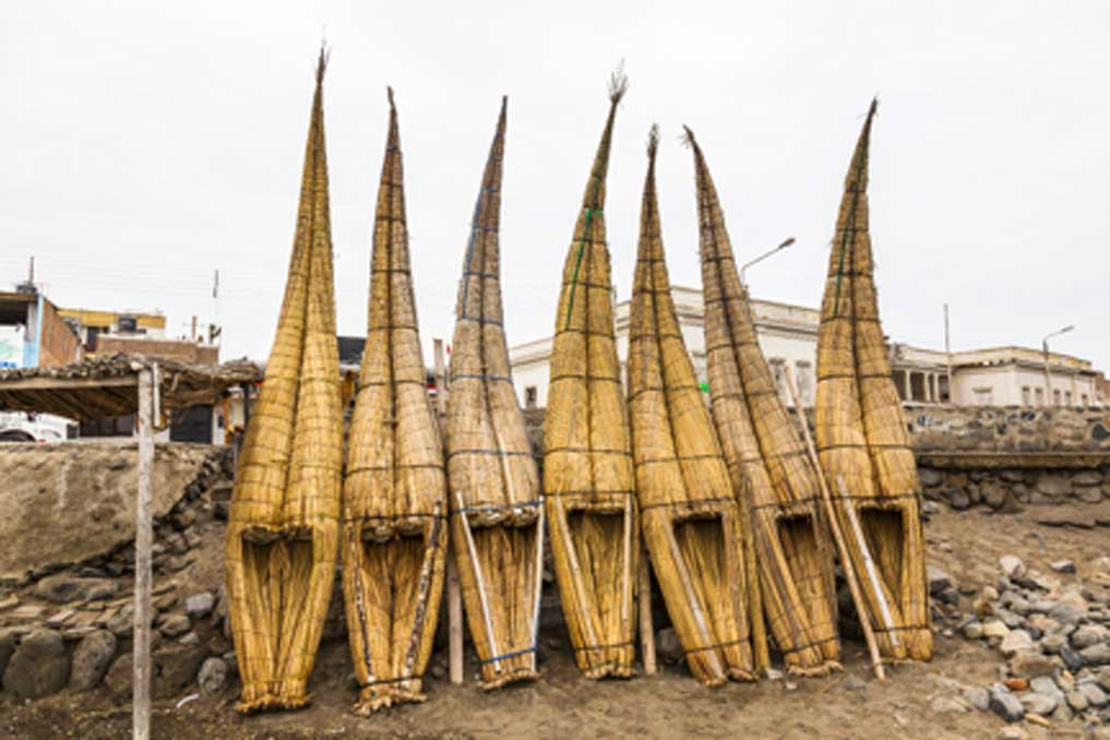 Traditional totora reed raft usage is fading away.  Source: ecuadorquerido / Adobe Stock