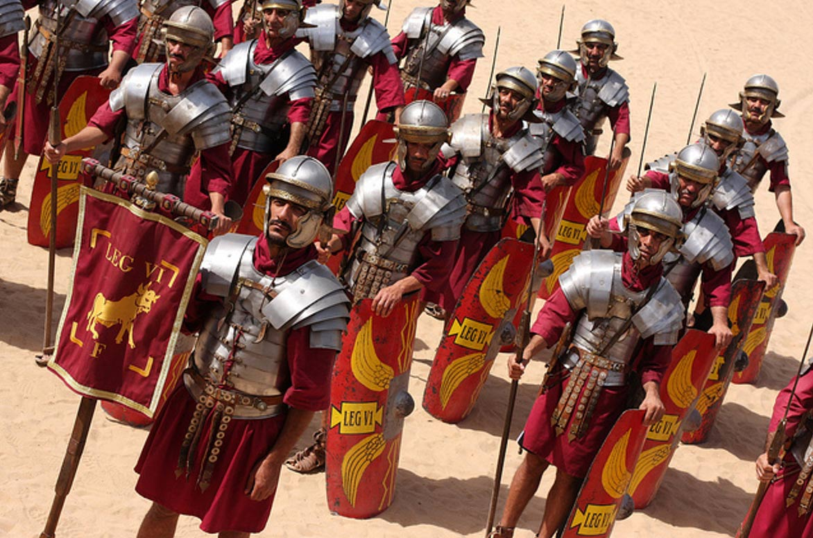 Roman Army & Chariot Experience, Hippodrome, Jerash, Jordan.