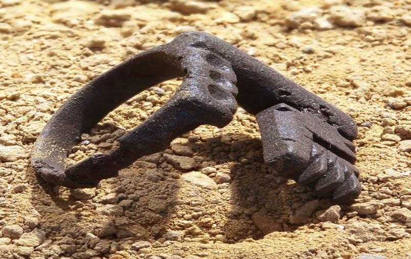 Roman Key Ring Made Of Iron And Worn By The Wife