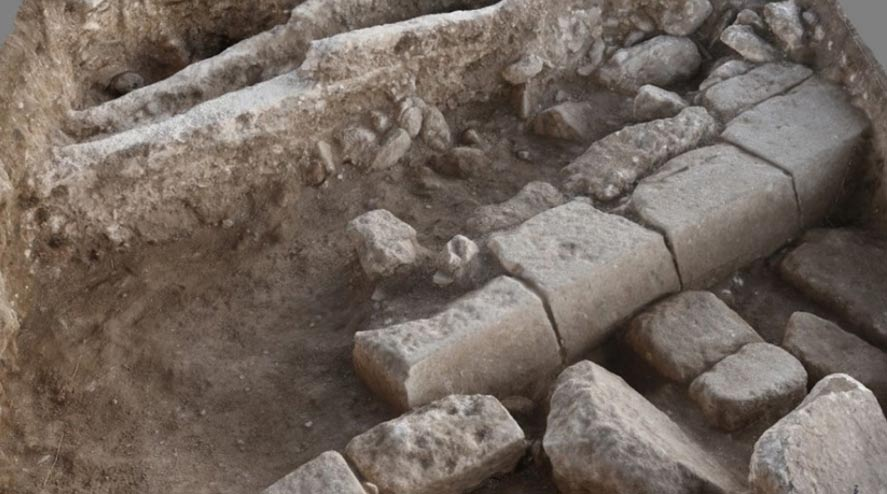 The remnants of a Roman street in Legio, a permanent Roman military outpost in Palestine