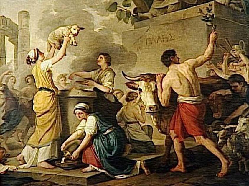 'Festa di Pales, o L'estate' by Joseph-Benoît Suvée