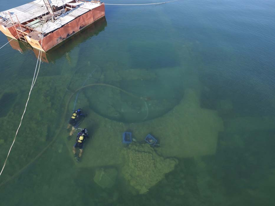 The ruined Christian church in Turkey's Lake Iznik is thought to have been built over a Roman Pagan temple