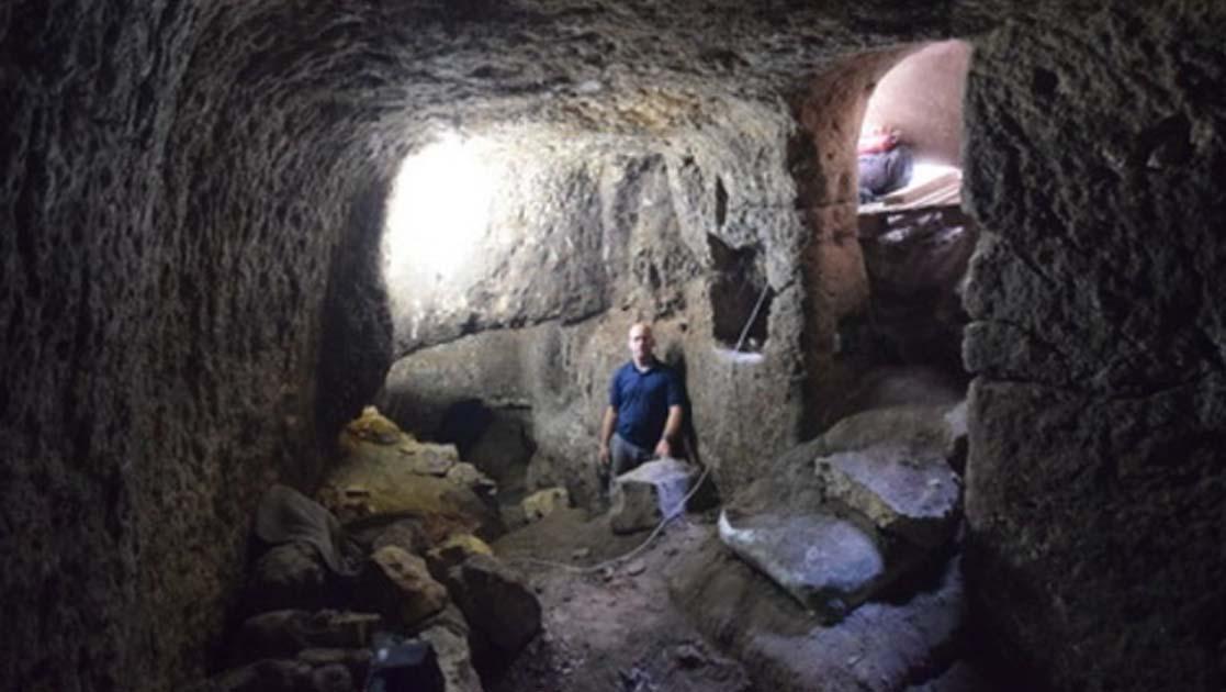 Roman-era stables discovered in the Galilean village of Eilabun, Israel.