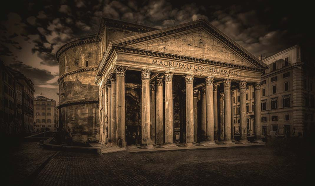 The Pantheon is an iconic example of beautiful Roman architecture