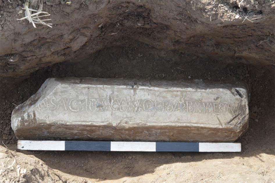 Roman lead ingotSource: Ian Grant/ © Clwyd-Powys Archaeological Trust