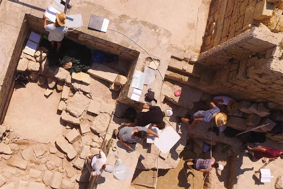 Students on site during excavation works at Tas-Silġ, Malta. Source: Times of Malta
