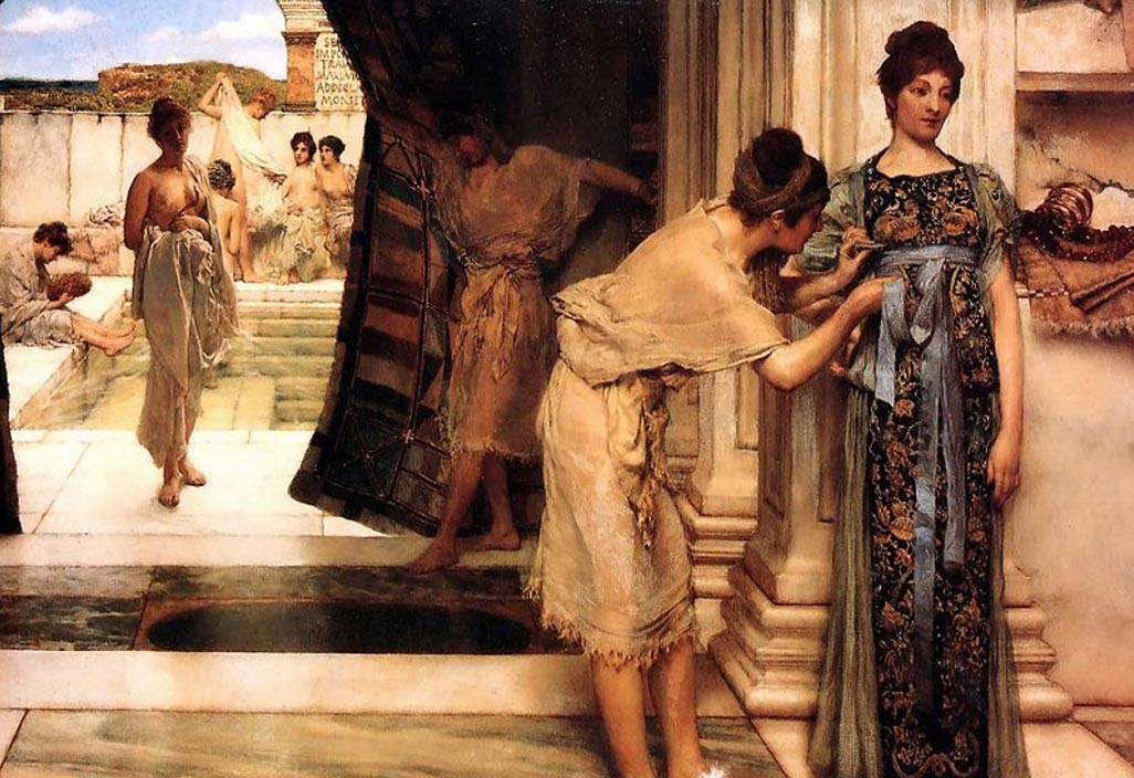 Roman women bathing
