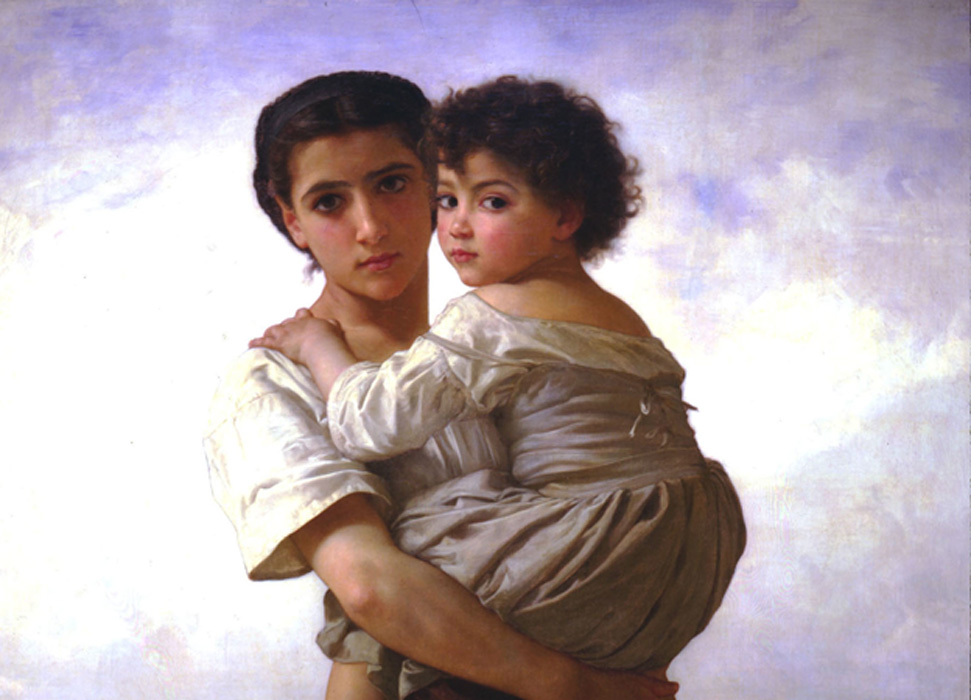 Painting 'Young Gypsies.' Family is key in the Romani people's culture.